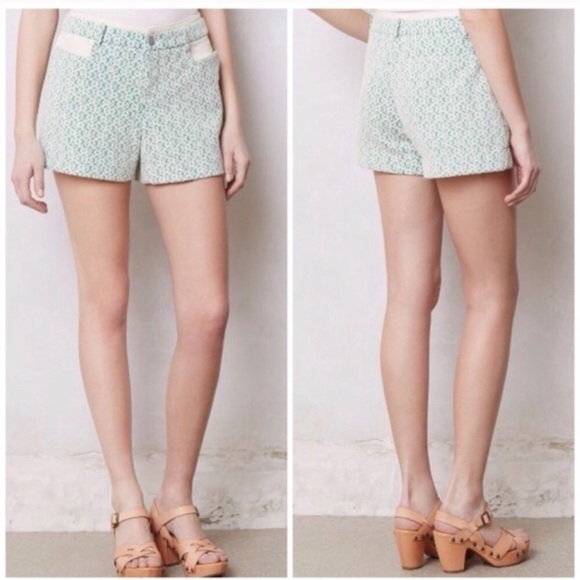 Anthropologie Pants - Anthropologie Cartonnier Rose Point Lace Shorts